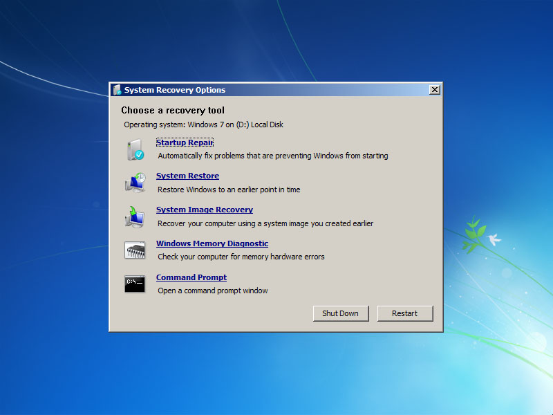 Programa de la Semana: Windows 7 Recovery CD